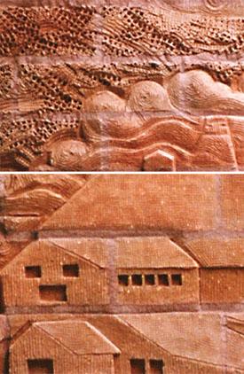Mara Smith Carving Brick Murals Works And Brick Sculptures
